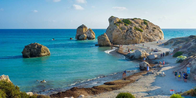Paphos beach, Paphos, Cyprus